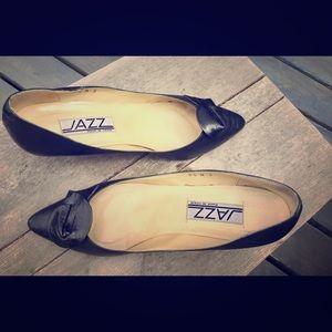 jazz Shoes - Vintage Black Leather Heels